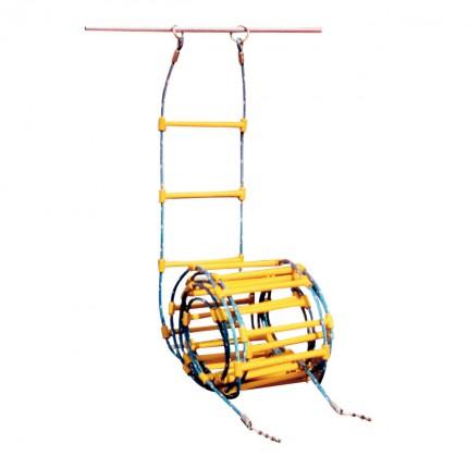 echelle cordes avec harnais et barreaux ronds. Black Bedroom Furniture Sets. Home Design Ideas